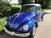 kever cabrio 1303 Blauw metallic met wit dak zeer goede staat