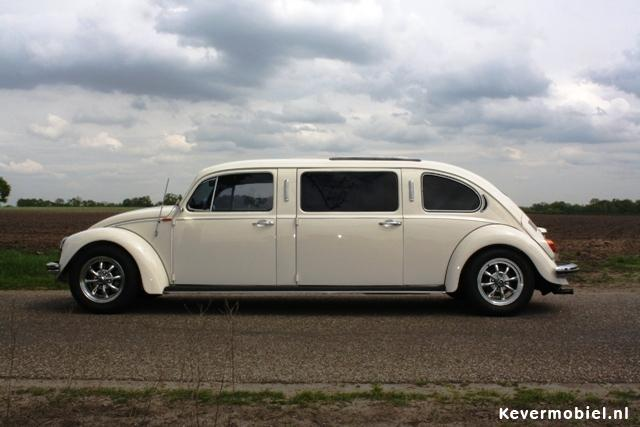 Kever limousine (verlengde kever) TE HUUR Uniek in Nederland