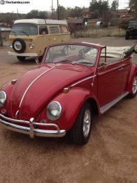 kever cabrio 1965 rood komt binnenkort binnen