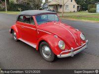 Kever Cabriolet 1962 rood nieuw binnen