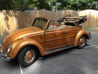 VW Käfer Cabrio 1966 Woody komt 2-9-2020 rein