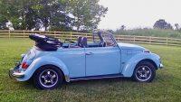 Kever cabrio 1302 baby blauw 3 de eigenaar verkocht