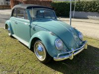 Kever cabrio 1966 turquoise nieuw  binnen